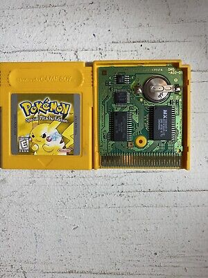 Pokemon Yellow (Game Boy, 1999) Cart Only - Authentic - Saves