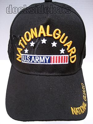 ARMY NATIONAL GUARD Cap/Hat, NEW, Black, Military FREE SHIPPING