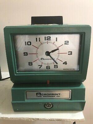 Acroprint Heavy Duty Time Clocks- Manual-125nr4 01-1070-411 Time Clocks New Item