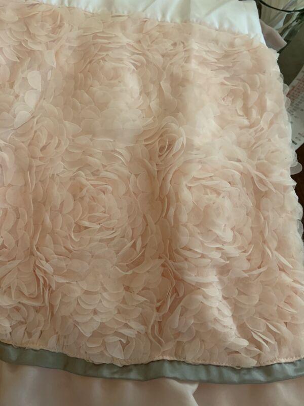 Arianna Plush Crib Pink Dust Ruffle The Peanut Shell Nwot