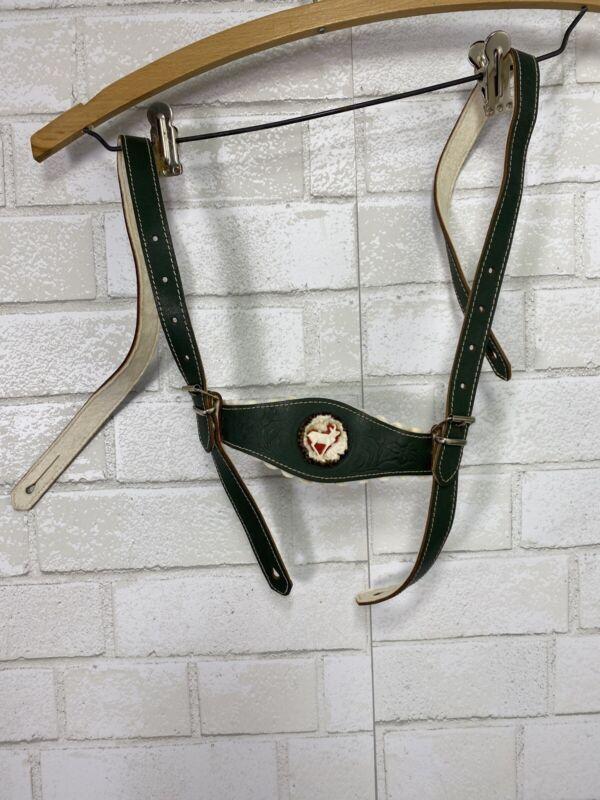 Vintage Lederhosen Leather Suspenders Octoberfest