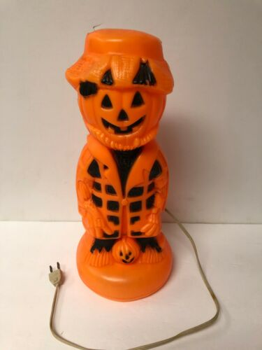 Vintage Halloween Blow Mold Scarecrow with Pumpkin