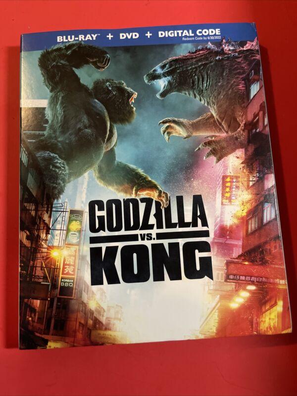 GODZILLA vs. KONG (Blu-Ray + DVD + NoDigital Code) W/ Slipcover LIKE NEW