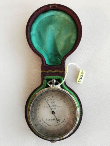 Interesting, small pocket barometer, J. Fabri, Vienna around 1900