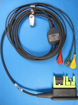 Zoll 8000-0839 Cable 3 Lead Ecg Iec For Aed Pro Snap Leads 9500-001810 New