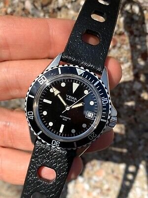 Vintage Yema 40m Mens Diver Watch Submariner 37,5mm Without Strap,head Only