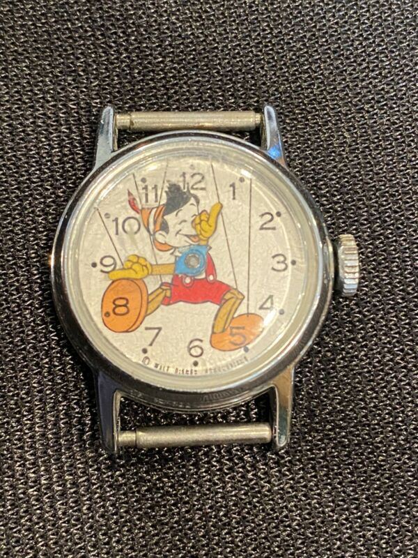 RARE! Vintage 1958 Disney Production Co Watch Featuring Pinnochio WORKS