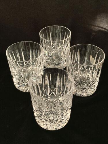 (4) Cut Crystal Old Fashioned Glasses Vintage 10 oz Size