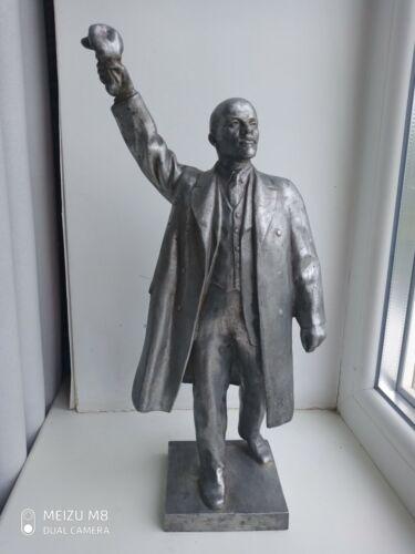 ORIGINAL USSR Russian BIG FIGURINE LENIN STATUE BUST Metal  Sculpture (7)