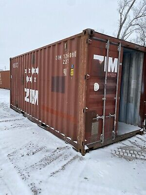Used 20 Dry Van Steel Storage Container Shipping Cargo Conex Seabox Wichita Ks