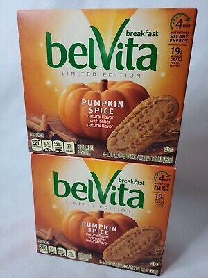 BelVita LIMITED EDITION Pumpkin Spice Breakfast Biscuits 2 Pack Fall Flavor 2020