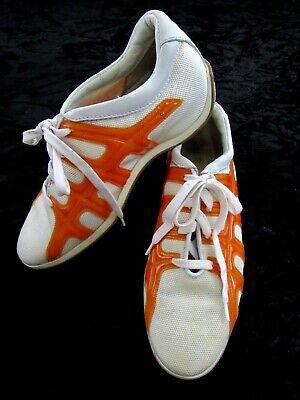 HOGAN sneakers white Orange texile women's shoe size EU 35.5 US 5.5 $480