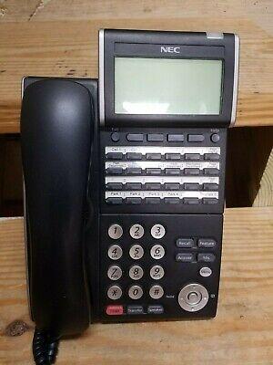 Nec Office Phone Dtl-12d-1 Bk Tel Dt300 Series Phone Dlv Xd Z-ybk Black Euc