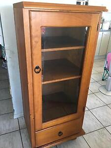 Wooden Display Cabinet with 3 shelves 1 draw Victoria Point Redland Area Preview