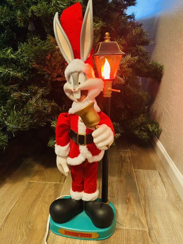 Warner Bros Looney Tunes Christmas Animated Bugs Bunny Figure Decoration Vintage