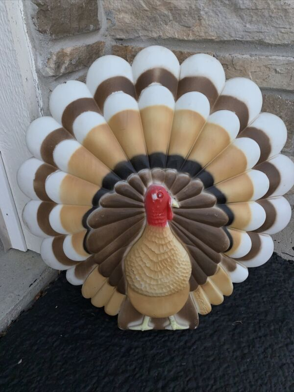 "Vintage Union Thanksgiving 20"" Lighted Blow Mold Only Turkey Don Featherstone #1"
