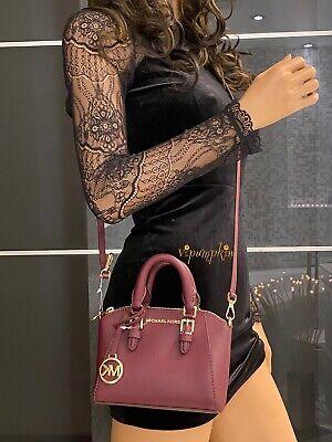 Michael Kors Ciara XS Mini Crossbody Saffiano Leather Giftables Bag Merlot