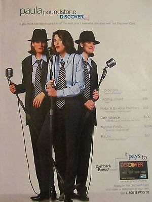 Paula Poundstone  Discover Card  Full Page Print Ad