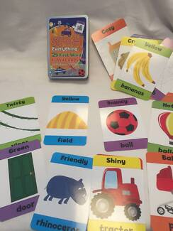 KIDS LEARNING TO READ AND IDENTIFYING OBJECT CARDS