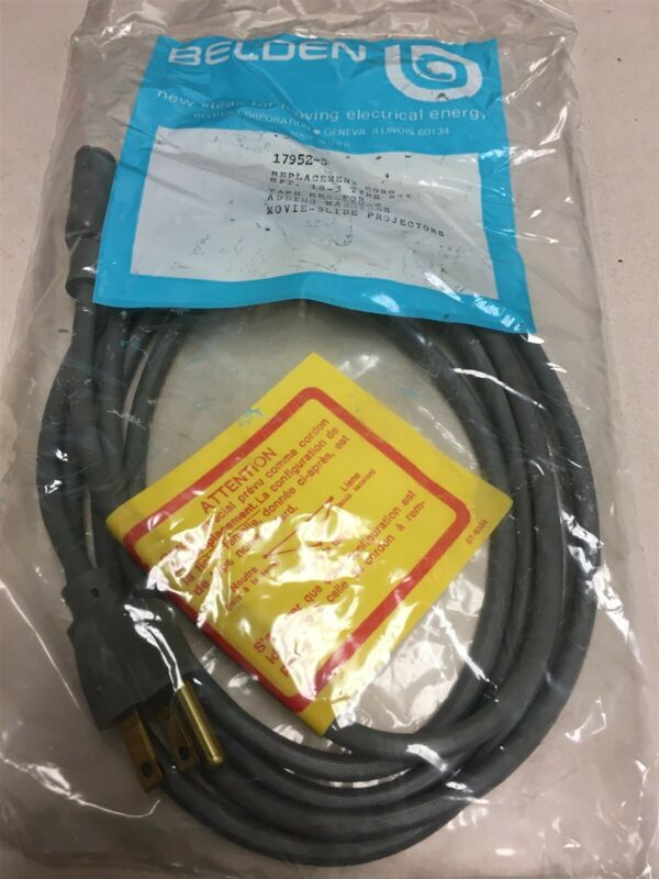 New Belden 17952-S 3 pin 115 VAC power cable 18-3 Type SVT Q6