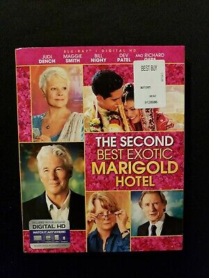 The Second Best Exotic Marigold Hotel Blu ray With Slipcover No Digital, Lot (Best Exotic Marigold 2)