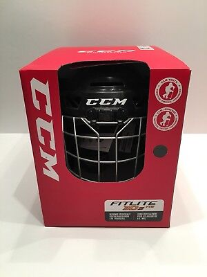 CCM Fitlite 3DS Youth Helmet (Combo Hockey Helmet With Cage) Black Brand New !