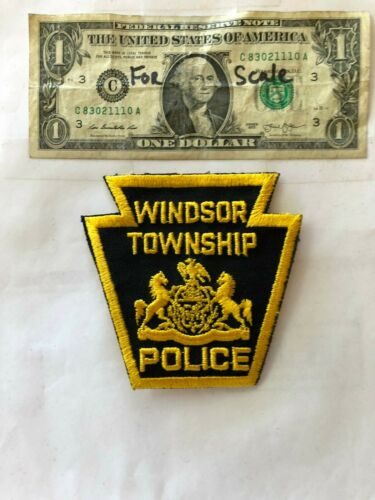 Windsor Pennsylvania Police Patch (Township) un-sewn in great shape