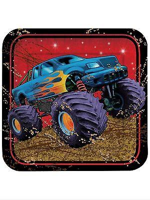 Mudslinger Monster Truck Party Supplies-large plates 8ct. - Monster Truck Party Supplies