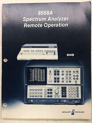 Hp 8568a Spectrum Analyzer Remote Operation Manual Pn 08568-90003