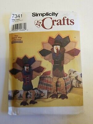 Simplicity Crafts 7341 Turkey Thanksgiving Fall Decor Cotton Way Collection