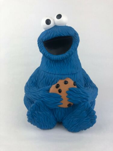 Vintage 1997 Jim Henson Productions Applause Cookie Monster Blue Cookie Jar RARE