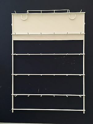 Wall Display Or Key Rack. Bright White Finish. New Old Stock.