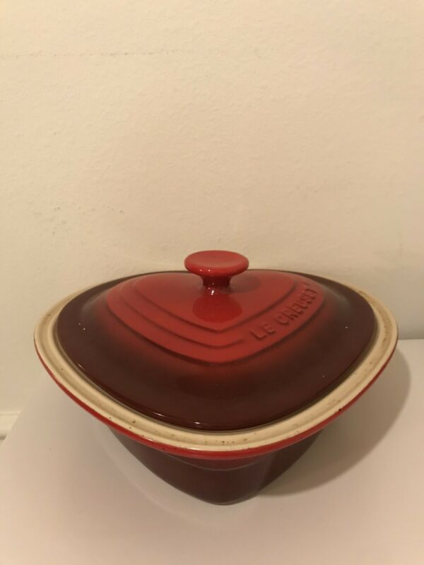 Le Creuset Red Heart Casserole With Lid