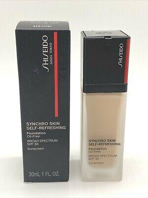 Shiseido Synchro Skin Self Refreshing Foundation EXP 03/21~ 220 Linen ~ 1oz/30ml