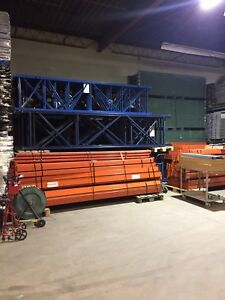 "Redi rack and tear drop pallet racking ""open to the public"""