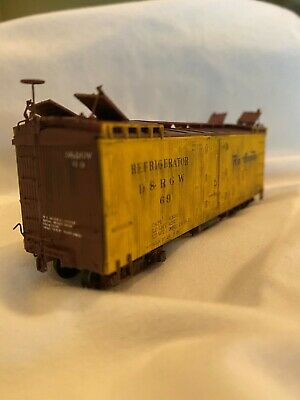 HOn3 D&RGW Built Reefer ,precision scale company trucks included , NO couplers