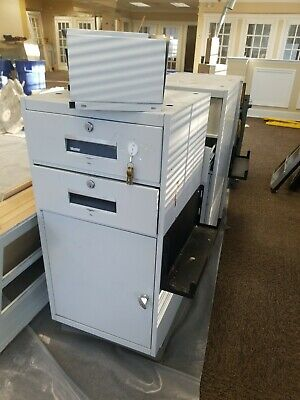 Mosler 2 Drawer Bank Teller File Cabinet Safe Wcombination Gsa Fire Rated Opens