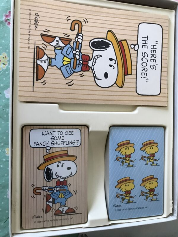 Hallmark Snoopy And Woodstock Playing Cards And Score Pad