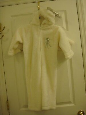 Child's Unisex Handmade Angel Christmas Costume White Size 2T to 4T Halo & Wings