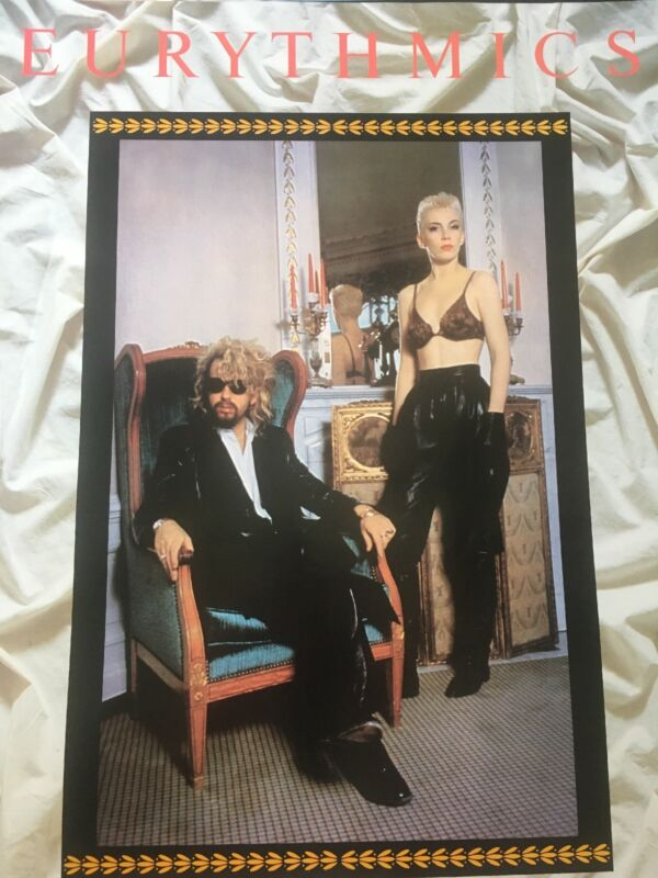 Eurythmics Revenge Authentic And Rare Promo Poster 1986