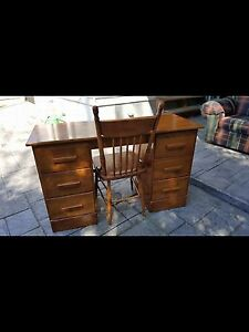 Beautiful wooden desk and chair