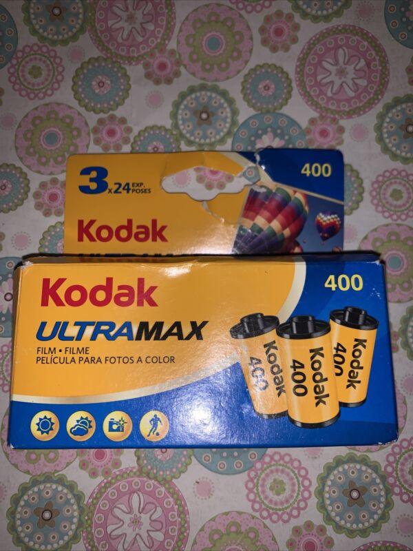 3 Rolls Kodak UltraMax 400 ISO Color Print 35mm Film  24 Exposures Exp.11/22