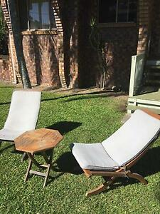 Two Outdoor Chairs, Wooden and Table Tugun Gold Coast South Preview