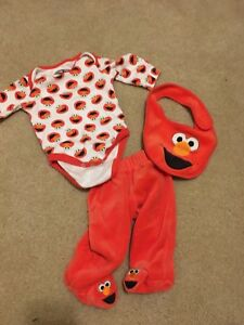 3 Month Elmo outfit