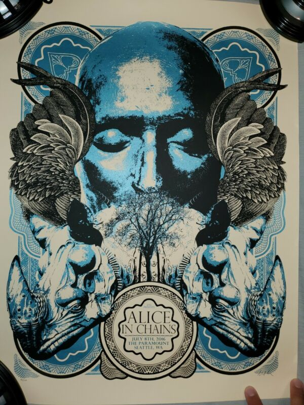 Alice In Chains Poster Seattle, WA Paramount Theater July 8th, 2016