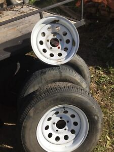 Trailer tires and rim