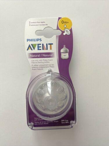 Philips AVENT Natural Nipples Pack of 2 Nipples 0m+ Newborn Flow