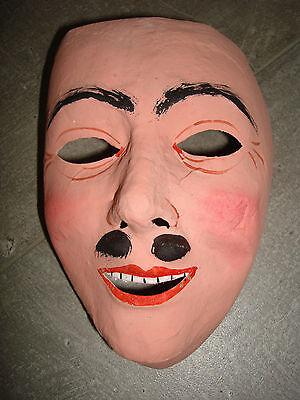 Carnelval Maske Pappmaschee Karneval Fasching alt Kostüm Halloween Mann mit Bart ()