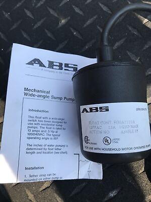 Abs 12806025 Single Phase Sump Pump Float Switch 13a Fg8a1110a 12hp 120240vac