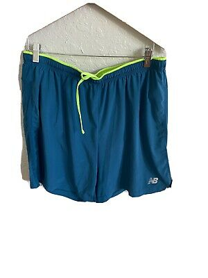 New Balance Lined Blue Running Athletic Shorts w/ Pockets Men's Size XL 14